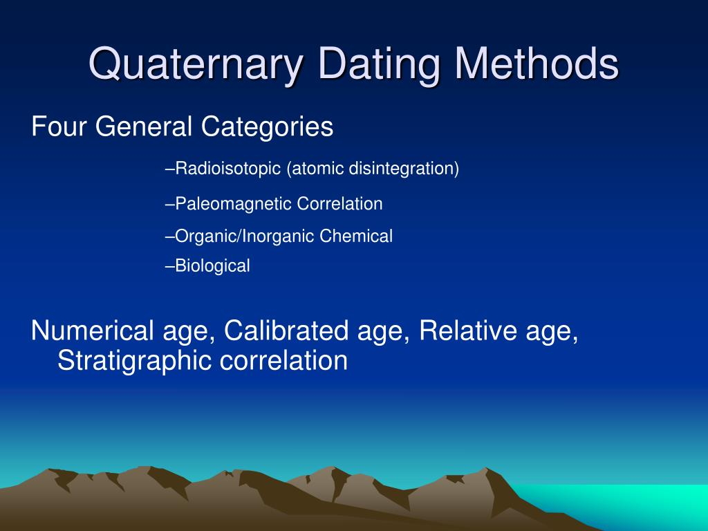 relative and numerical age dating