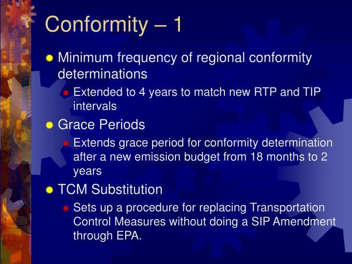 Conformity 1
