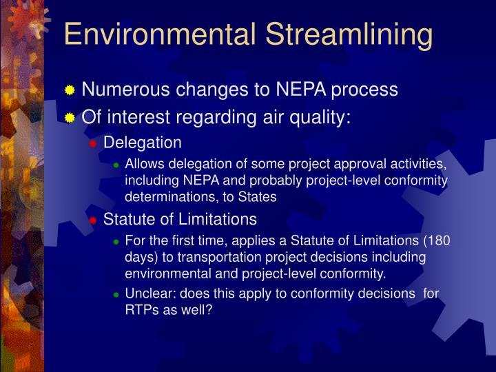 Environmental Streamlining