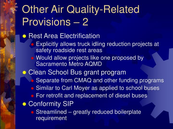 Other Air Quality-Related Provisions – 2