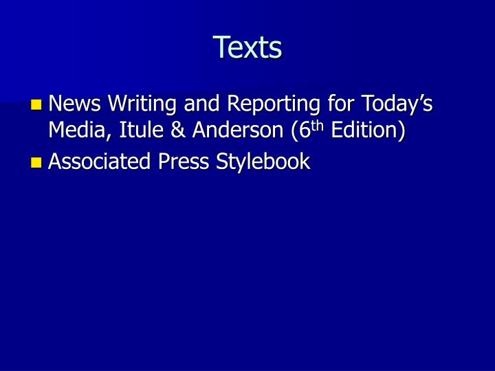 news writing and reporting [writing and reporting news is] a good text that stays current with the journalism field the updates every couple of years reflect ongoing industry trends from the publisher.