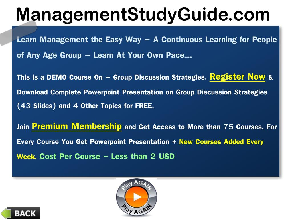 PPT - Group Discussion Strategies PowerPoint Presentation