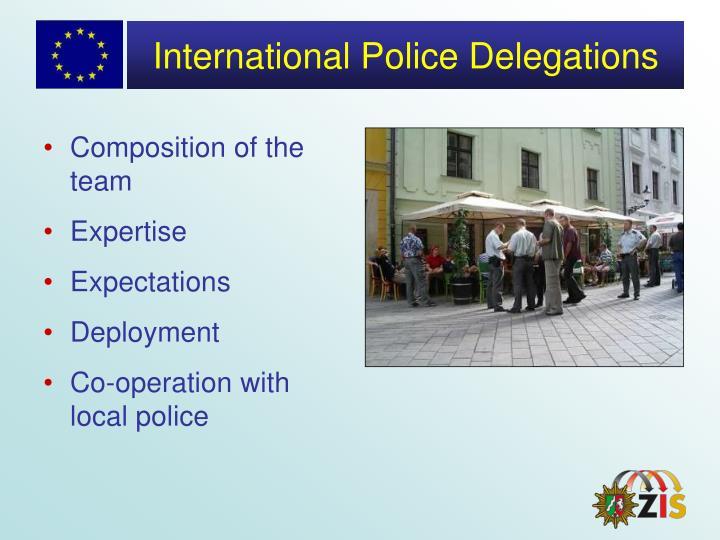 International Police Delegations