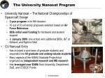 the university nanosat program