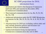 ec ghg projections for 2010 information basis