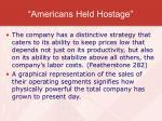 americans held hostage