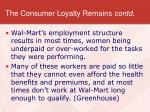 the consumer loyalty remains contd