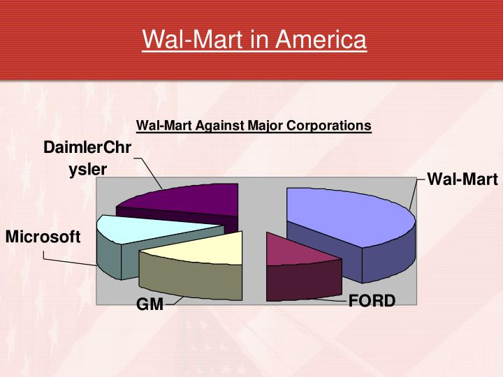 the benefits of wal mart to an american town Is wal-mart good for america correspondent hedrick smith examines the power of wal-mart and other mass retailer chains, as the world's gateway to the american consumer.