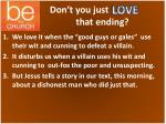 don t you just that ending
