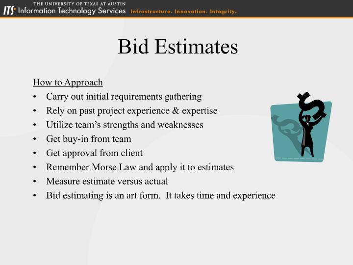 Bid Estimates