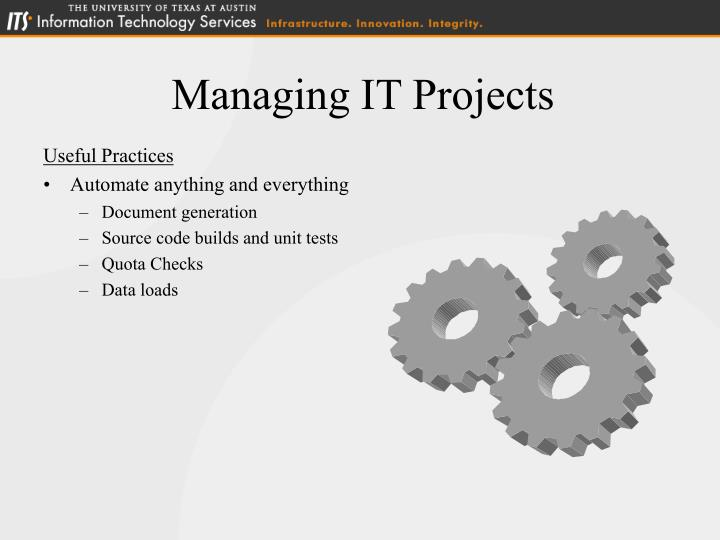 Managing IT Projects