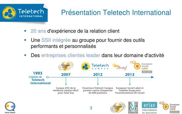 Pr sentation teletech international