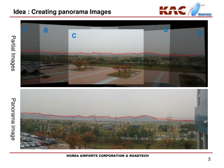 Idea creating panorama images