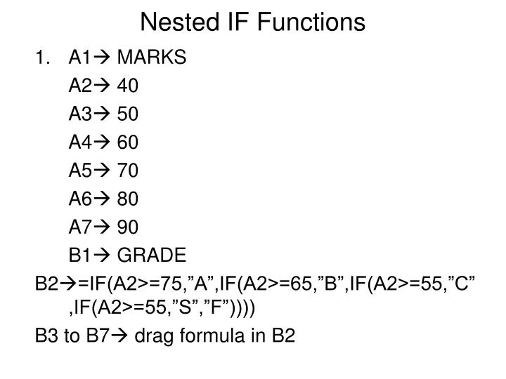 Nested IF Functions