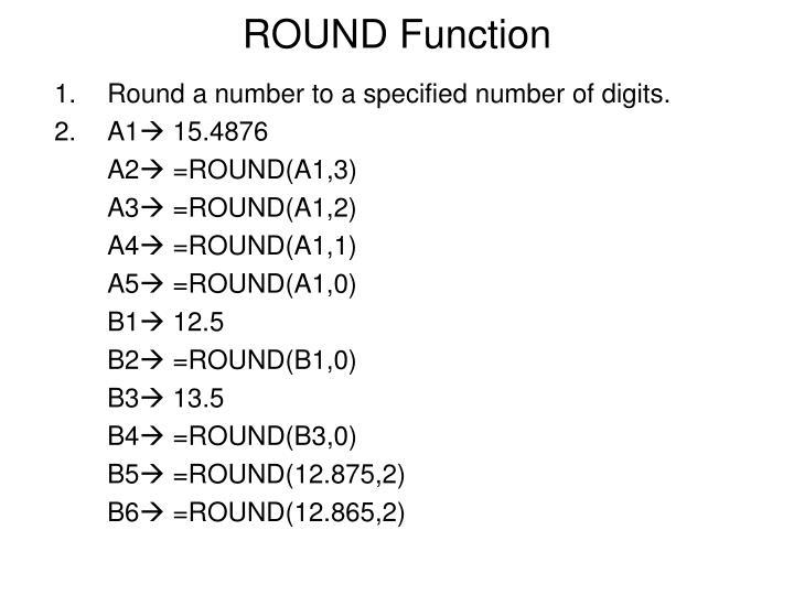 Round function