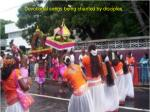girls are playing kolattam and will move to the kovil along with the devotees