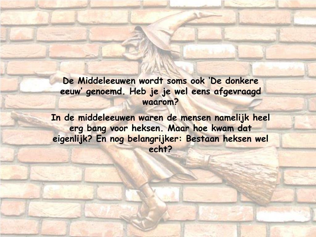Ongekend PPT - Heksen in de Middeleeuwen PowerPoint Presentation, free VC-06