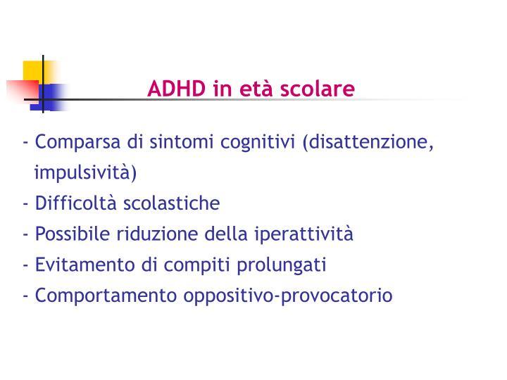 ADHD in età scolare