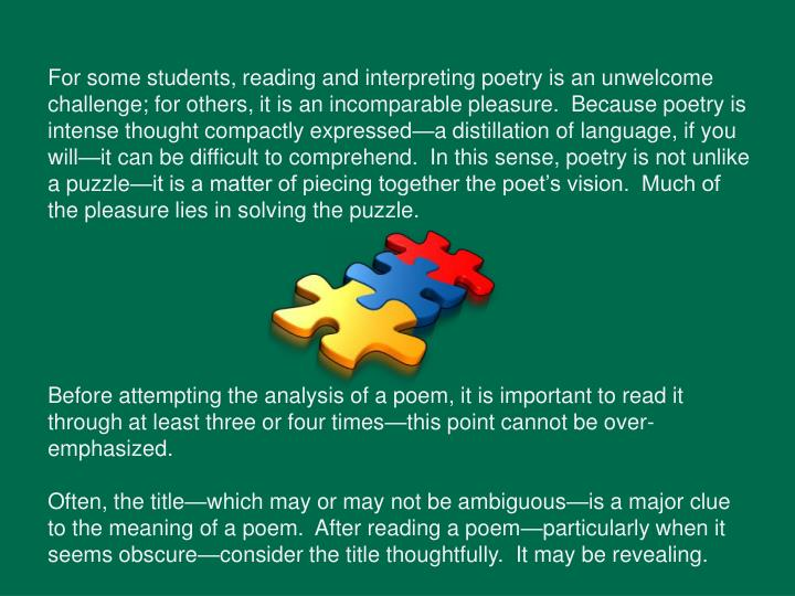 an analysis of the topic of the power of poetry • poetry revision grid 2  , often suggested by the topic, content and structure  power illusory and temporary, rather than.