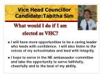 what would i do if i am elected as vhc