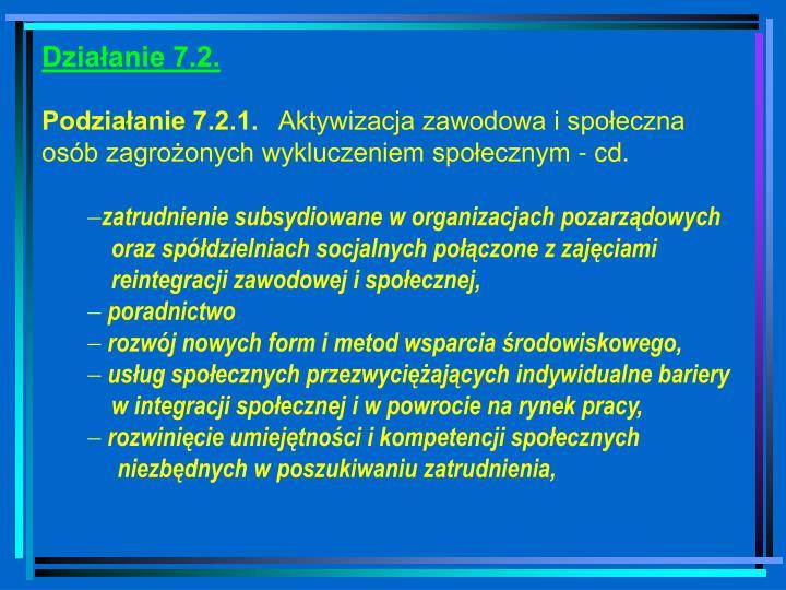 Działanie 7.2.