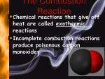 the combustion reaction1