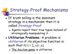 strategy proof mechanisms