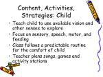 content activities strategies child