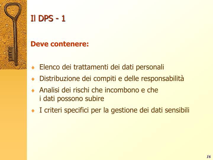 Il DPS - 1