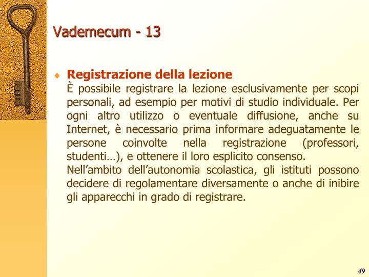 Vademecum - 13