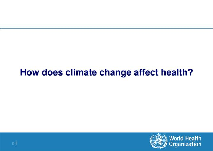 How does climate change affect health?