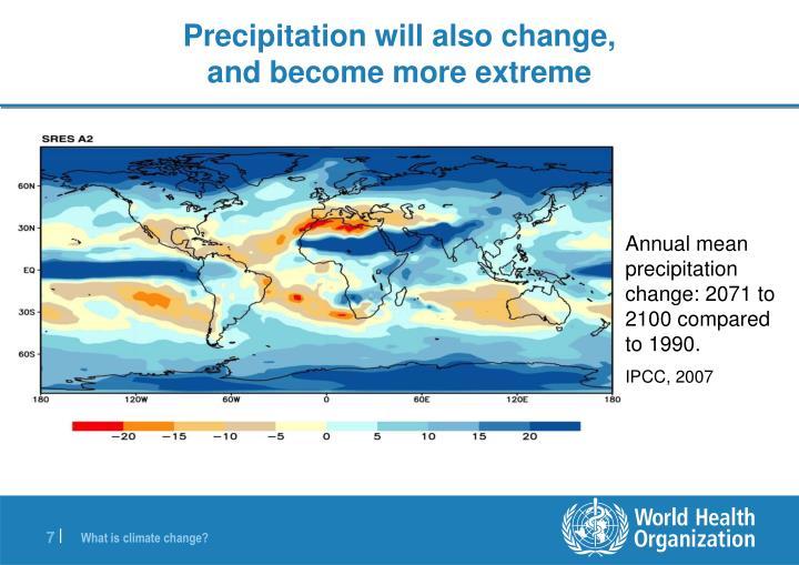 Precipitation will also change,