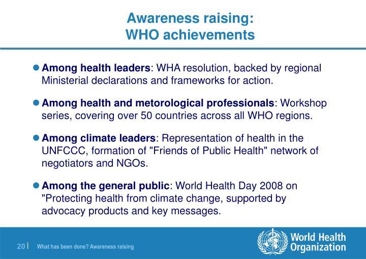 Among health leaders