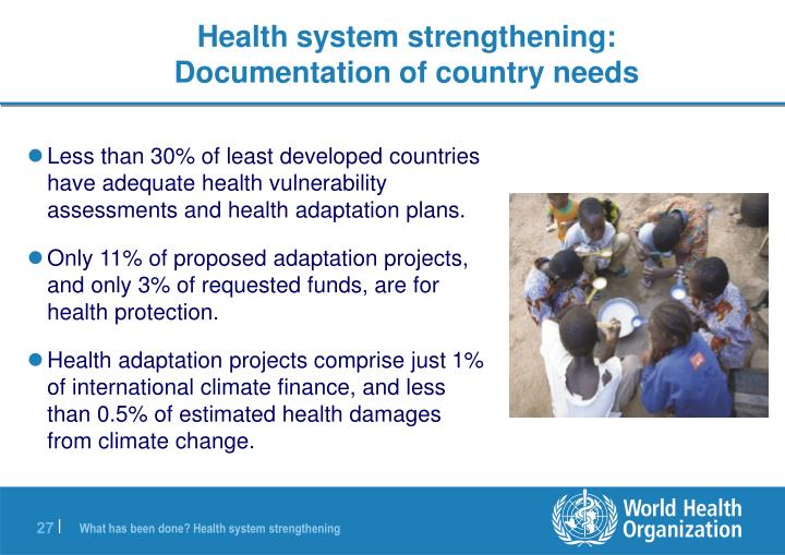 Health system strengthening: