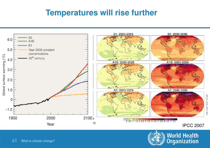 Temperatures will rise further