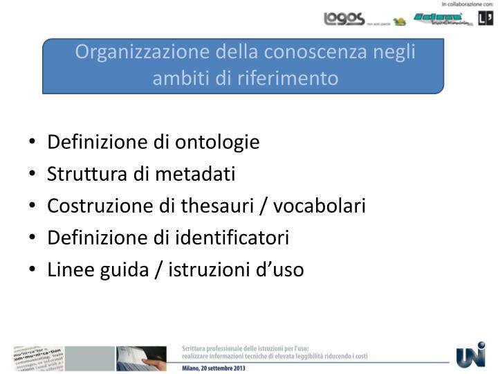 Organizzazione della conoscenza negli