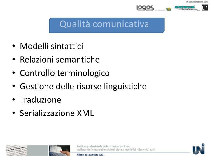 Qualità comunicativa