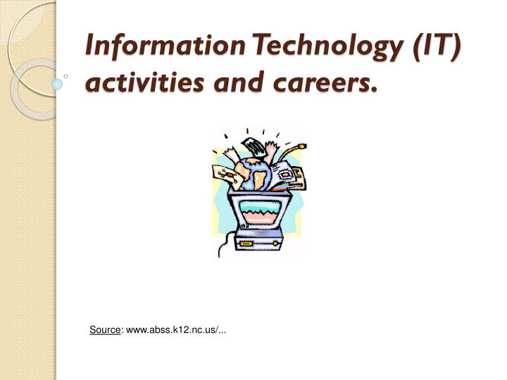 information technology it activities and careers n.