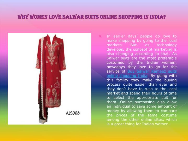 Why women love salwar suits online shopping in india
