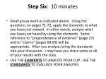 step six 10 minutes