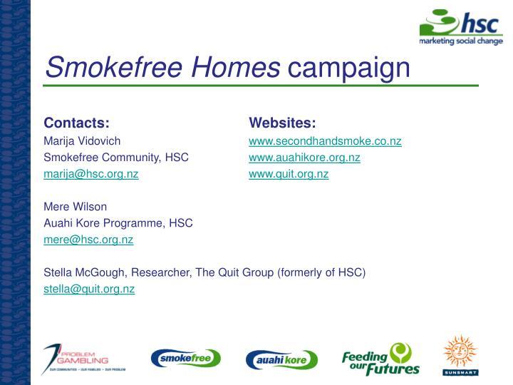 Smokefree Homes