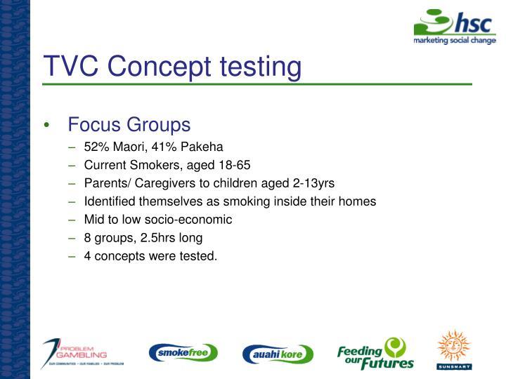TVC Concept testing
