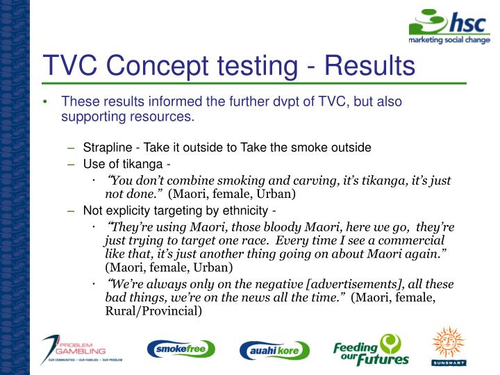 TVC Concept testing - Results
