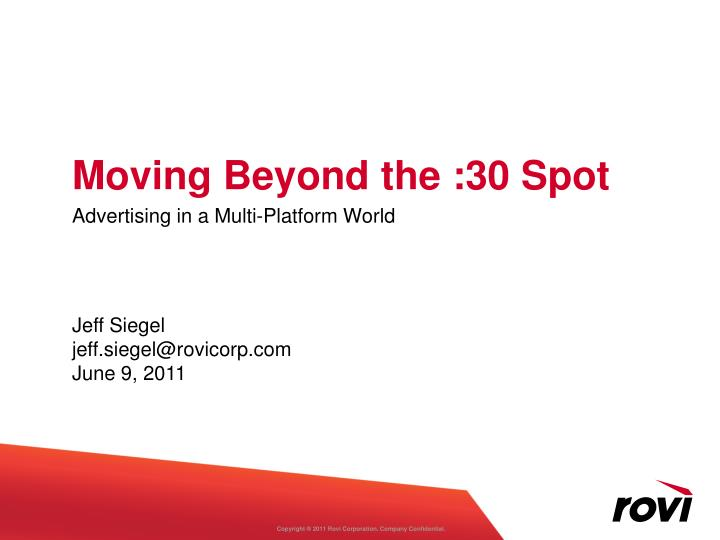 Moving beyond the 30 spot