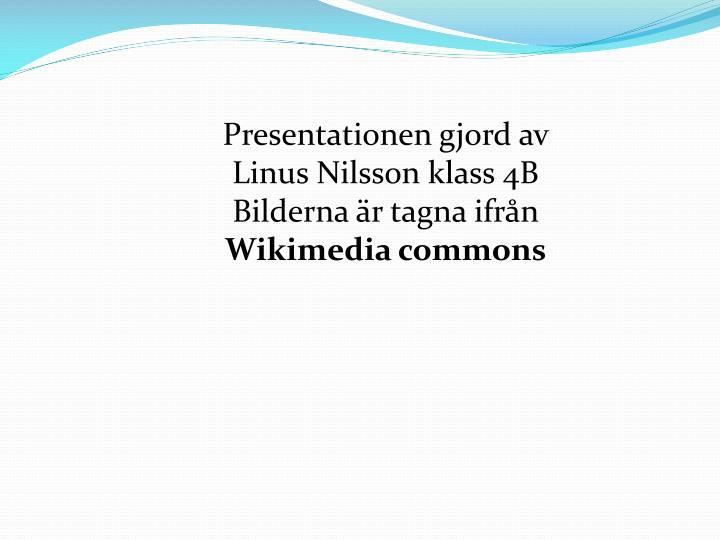 Presentationen gjord av