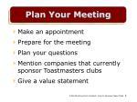 plan your meeting