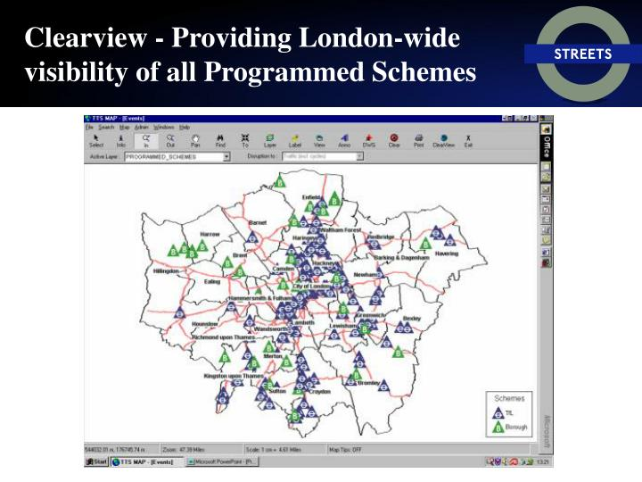 Clearview - Providing London-wide visibility of all Programmed Schemes