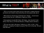 what is ted