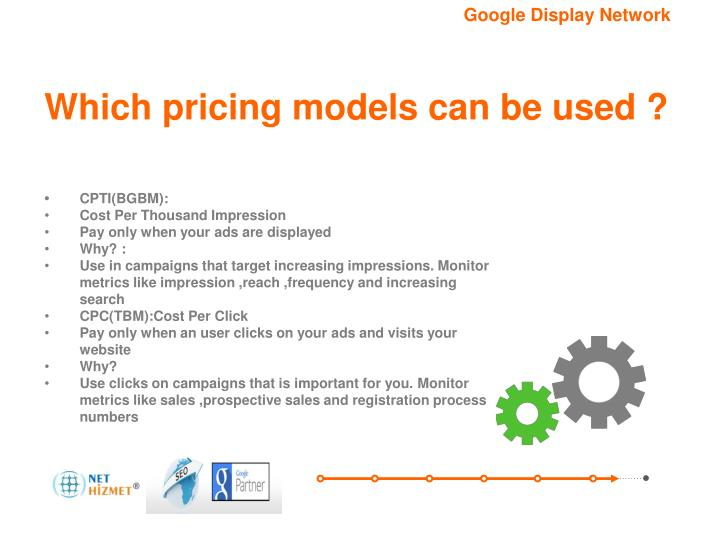 Which pricing models can be used ?