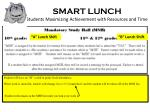smart lunch students maximizing achievement with resources and time1